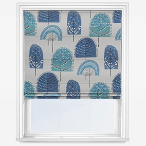 iLiv Scandi Wood Indigo Roman Blind