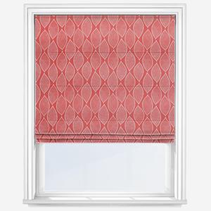 Olivia Bard Leaf Mosaic Pomegranate Roman Blind