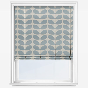 Orla Kiely Two Colour Stem Powder Blue Roman Blind