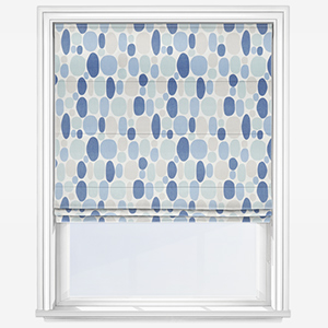 Studio G Bubble Denim Roman Blind