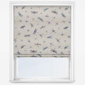 Studio G Dragonflies Cream Roman Blind