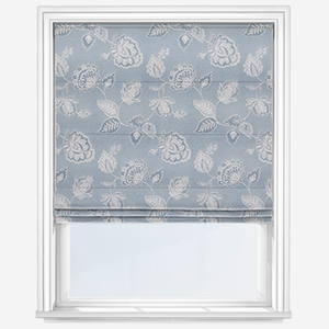 Touched By Design Almere Sky Blue Roman Blind