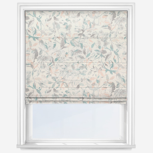 Touched By Design Colina Leaf Blush & Teal Roman Blind