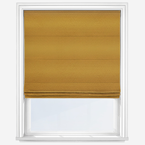 Touched By Design Crushed Silk Ochre Roman Blind