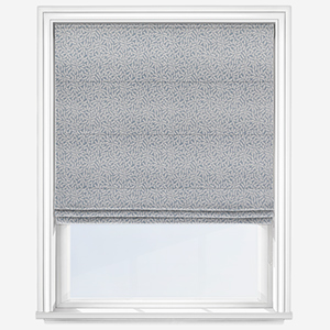 Touched By Design Ficus Leaf Sky Blue Roman Blind