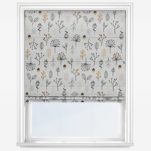 Touched By Design Flora Mint Ochre Roman Blind