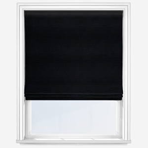 Touched By Design Luxe Faux Silk Ebony Roman Blind
