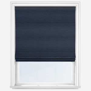 Touched By Design Luxe Faux Silk Indigo Roman Blind