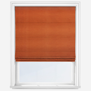 Touched By Design Luxe Faux Silk Rust Roman Blind