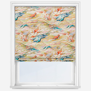 Touched By Design Modernist Inky Coral Roman Blind