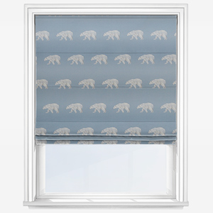 Touched By Design Polar Bear Blue Roman Blind