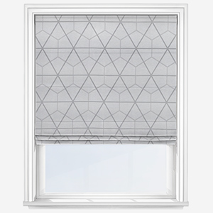 Touched By Design Riga Silver Roman Blind