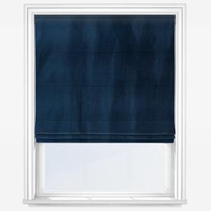Touched By Design Verona Indigo Blue Roman Blind