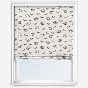 Touched By Design Wink Mono White Roman Blind
