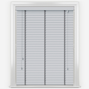 Statement Dove Grey with Grey Tapes Faux Wood Venetian Blind