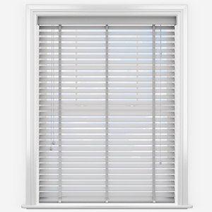 WoodLux French Grey with Tapes Faux Wood Venetian Blind
