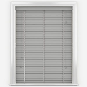 WoodLux Rhino Grey with Tapes Faux Wood Venetian Blind