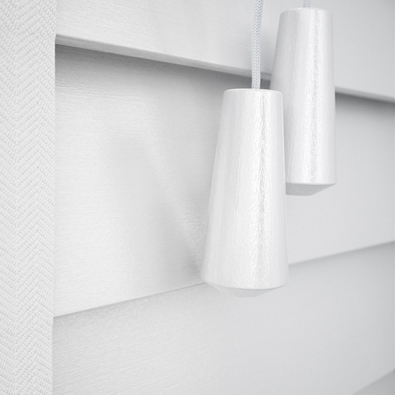 Designer Pure White with Tapes venetian