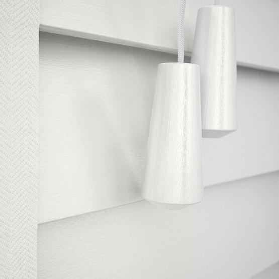 Designer Soft White with Tapes venetian