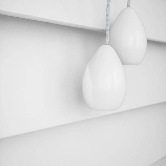 WoodLux Bright White venetian