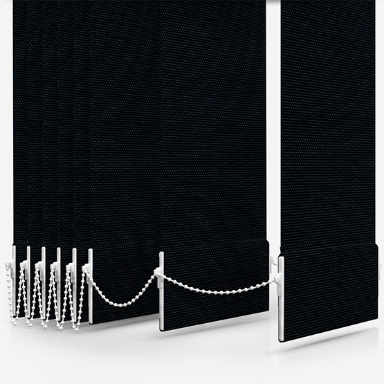 AquaLuxe Black Vertical Blind Replacement Slats