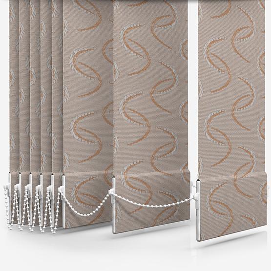 Aura Copper Vertical Blind Replacement Slats