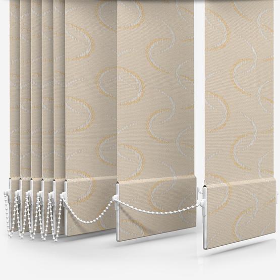 Aura Gold Vertical Blind Replacement Slats