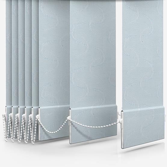 Aura Ice Blue Vertical Blind Replacement Slats