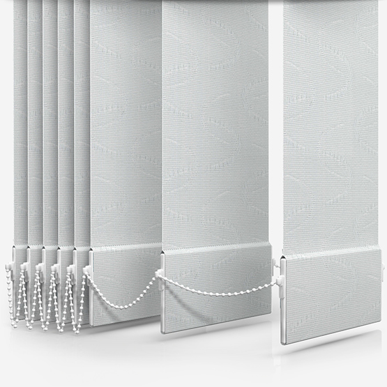 Aura White Vertical Blind Replacement Slats