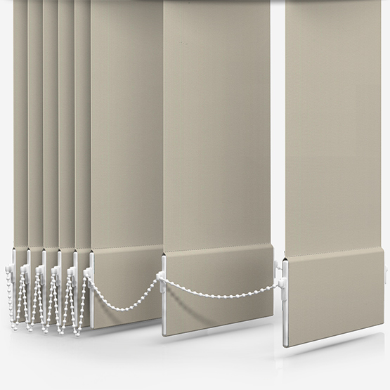 Absolute Blackout Beige Vertical Blind Replacement Slats