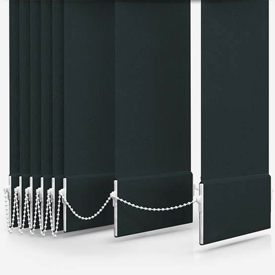 Touched By Design Absolute Blackout Black Vertical Blind Replacement Slats