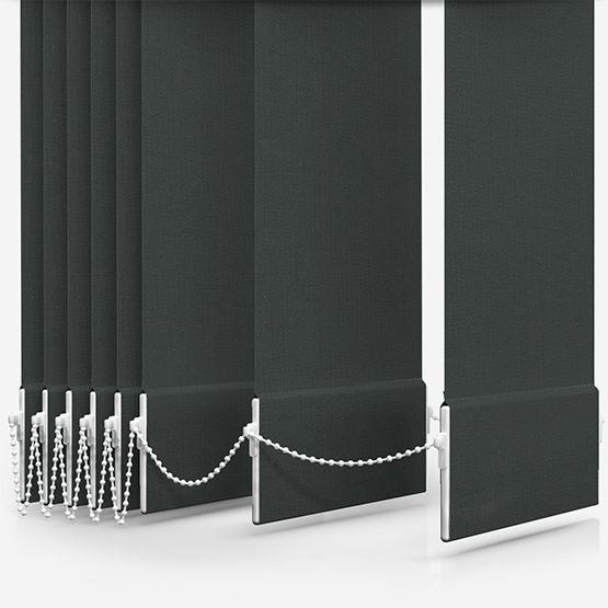 Touched By Design Absolute Blackout Chocolate Vertical Blind Replacement Slats