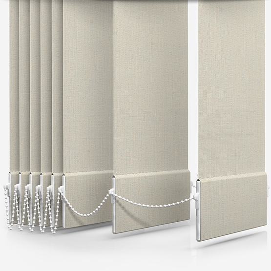 Absolute Blackout Natural Vertical Blind Replacement Slats