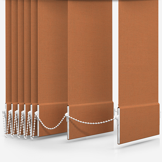 Touched By Design Absolute Blackout Orange Vertical Blind Replacement Slats