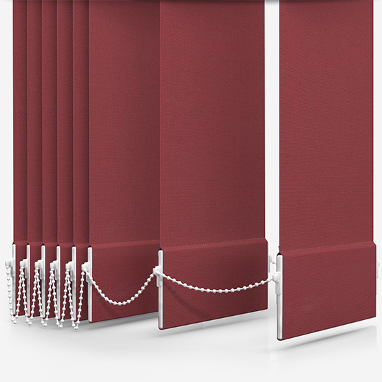 Touched By Design Absolute Blackout Purple Vertical Blind Replacement Slats
