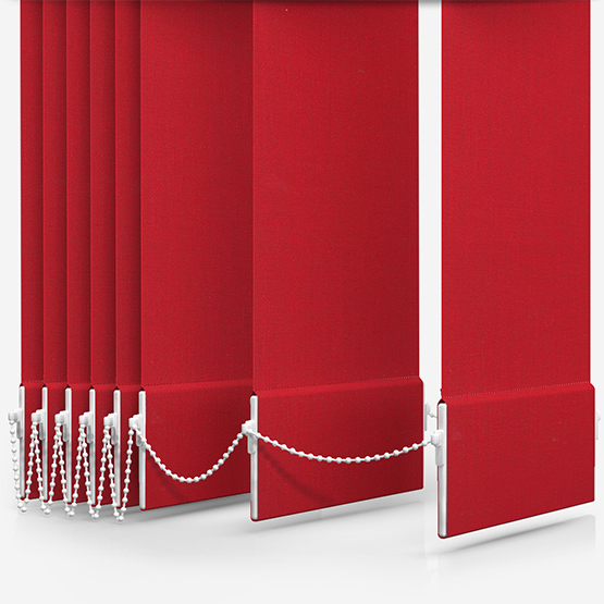 Touched By Design Absolute Blackout Red Vertical Blind Replacement Slats