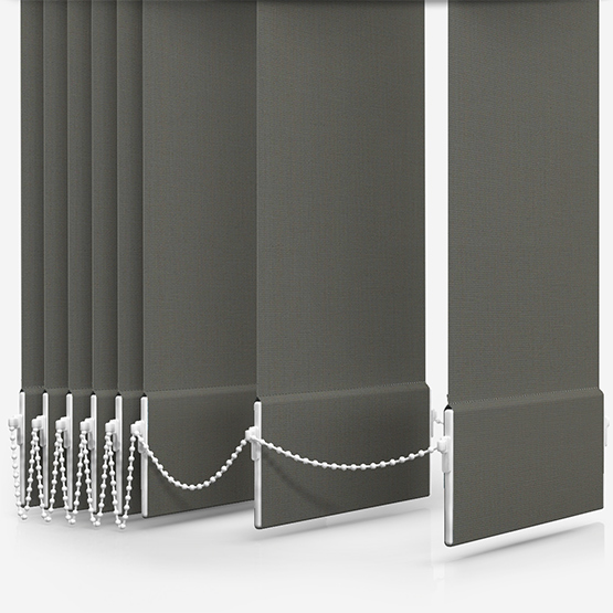 Touched By Design Absolute Blackout Taupe Vertical Blind Replacement Slats