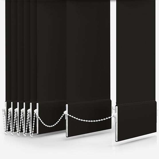 Touched By Design Deluxe Plain Espresso Vertical Blind Replacement Slats