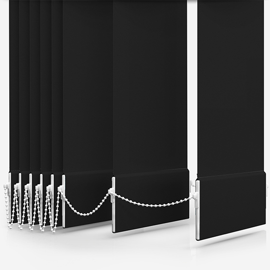 Touched By Design Deluxe Plain Jet Vertical Blind Replacement Slats