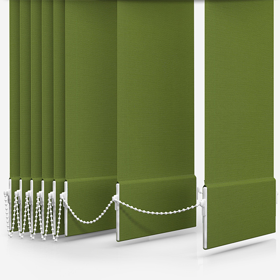 Touched By Design Deluxe Plain Lime Vertical Blind Replacement Slats