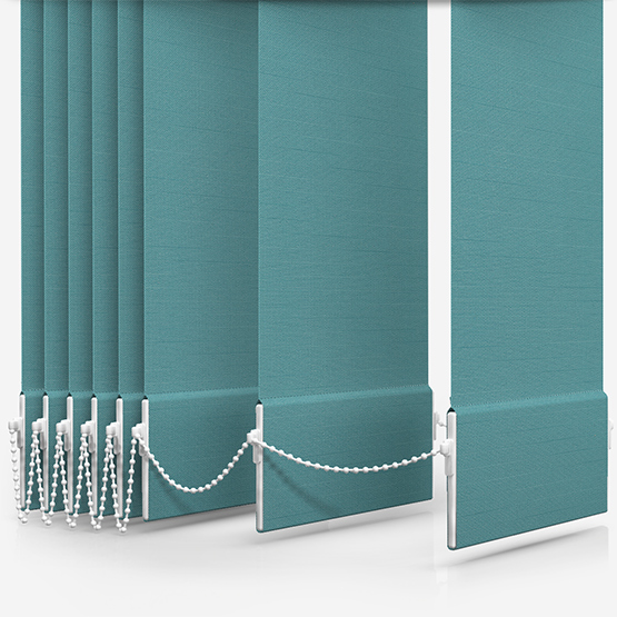 Touched By Design Deluxe Plain Ocean Green Vertical Blind Replacement Slats
