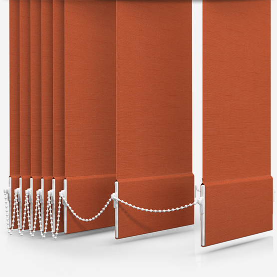Touched By Design Deluxe Plain Orange Marmalade Vertical Blind Replacement Slats