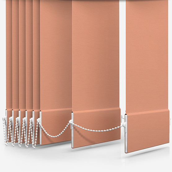 Touched By Design Deluxe Plain Papaya Vertical Blind Replacement Slats