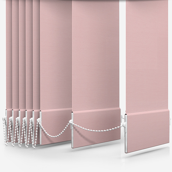 Touched By Design Deluxe Plain Peony Pink Vertical Blind Replacement Slats