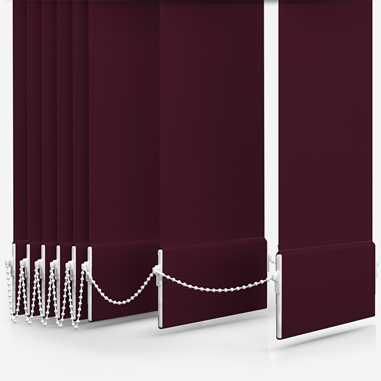 Touched By Design Deluxe Plain Plum Vertical Blind Replacement Slats