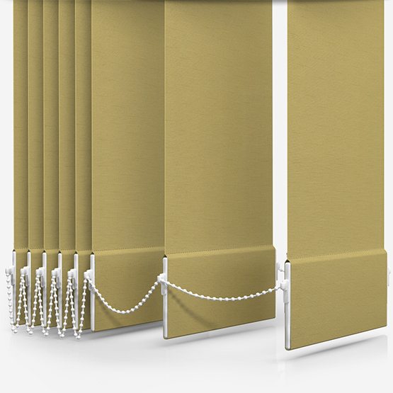 Touched By Design Deluxe Plain Stem Green Vertical Blind Replacement Slats