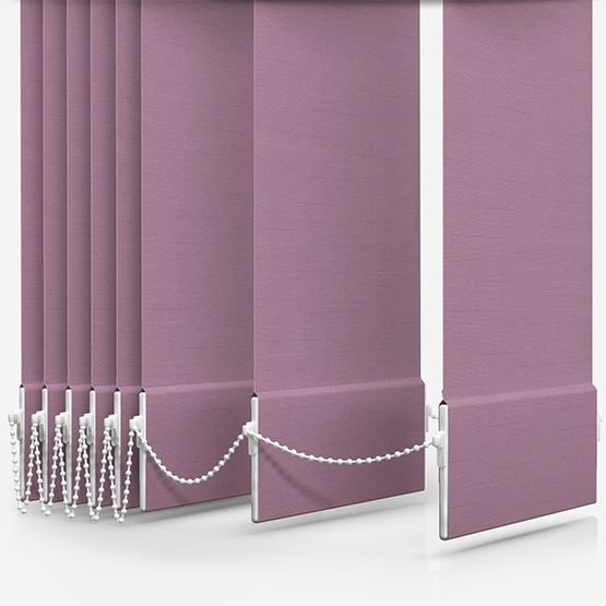 Touched By Design Deluxe Plain Wisteria Vertical Blind Replacement Slats