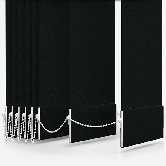 Optima Dimout Black Vertical Blind Replacement Slats