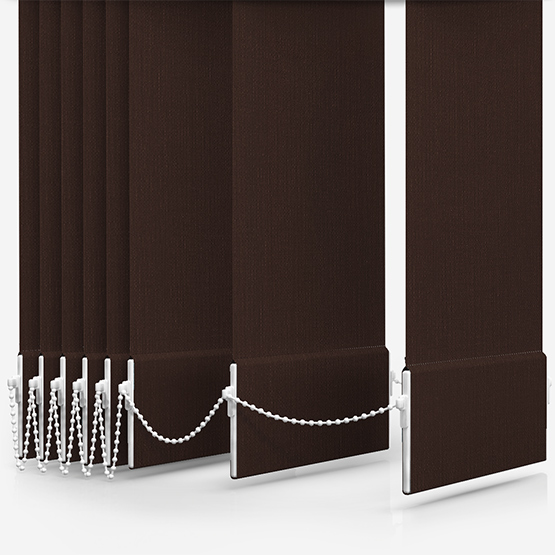 Touched By Design Optima Dimout Chocolate Vertical Blind Replacement Slats