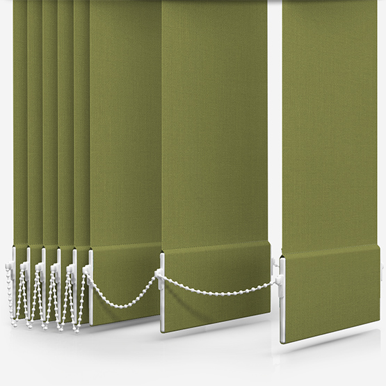 Touched By Design Optima Dimout Green Vertical Blind Replacement Slats